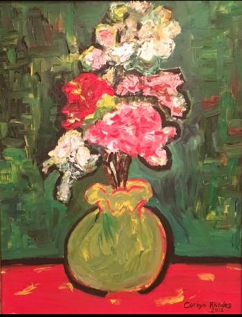 Vase Of Flowers Van Gogh Floral Oil Painting